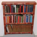 Full Bookshelf Made from Old Books