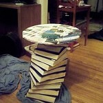 Table Made from Old Books