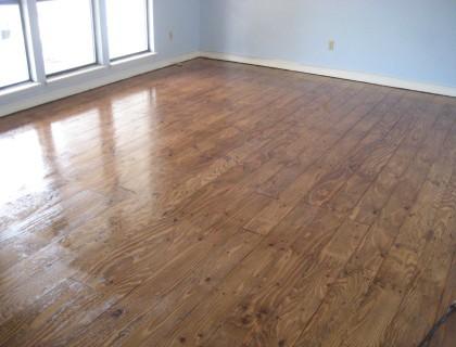 plywood hardwood floor
