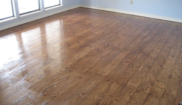 plywood hardwood floor