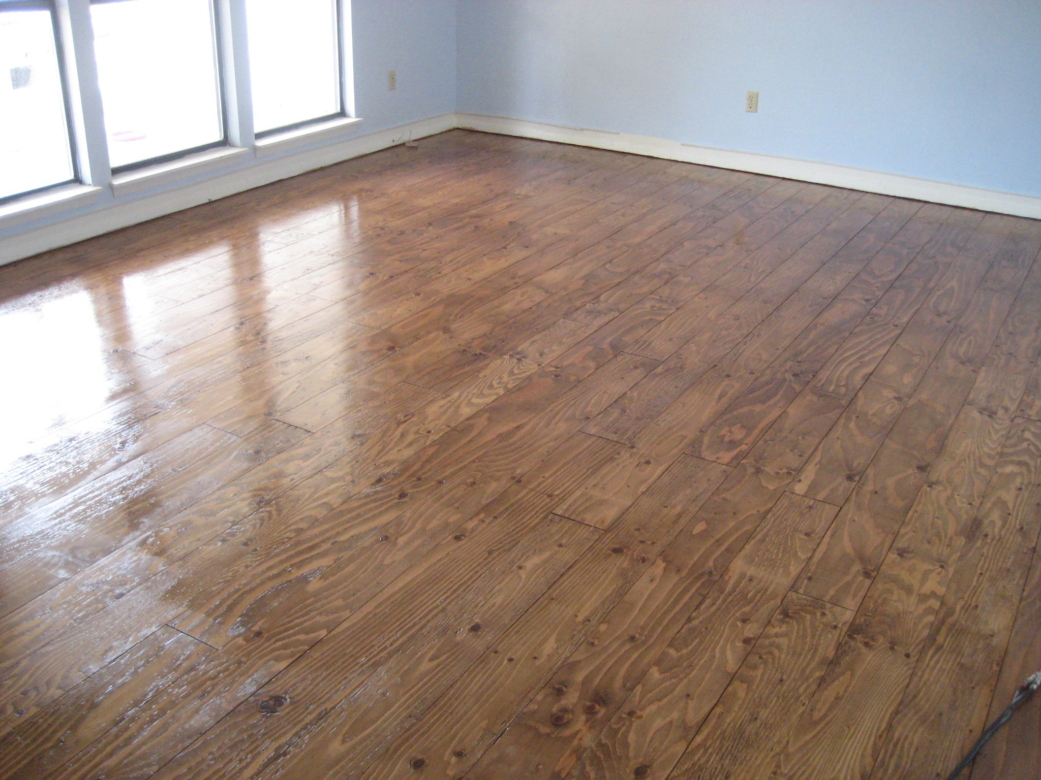 Diy cheap flooring shabby goatshabby goat posted in diy home on january 16th 2014 2 comments plywood hardwood floor solutioingenieria Images